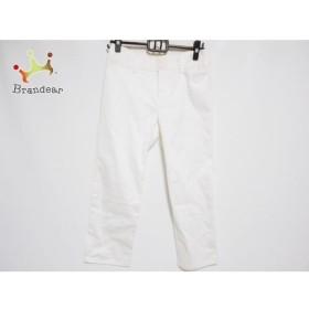 アニエスベー agnes b パンツ サイズ38 M レディース 美品 アイボリー 新着 20190920