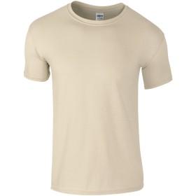 (ギルダン) Gildan メンズ ソフトスタイル 半袖 Tシャツ トップス カットソー (3XL) (サンド)