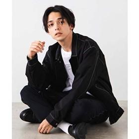 ウィゴー(メンズ)(WEGO) 配色ステッチジャケット【ブラック/M】