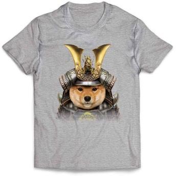 Fox Republic【仔犬の 柴犬 ドッグ 犬 いぬ いぬ 将軍 日本 JAPAN】 メンズ 半袖 Tシャツ グレー XXL