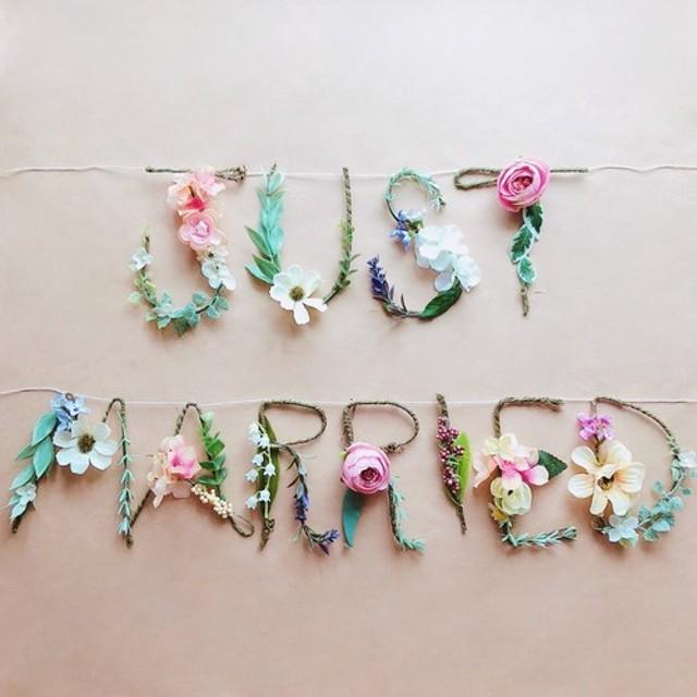 JUST MARRIED ウェディングガーランド 結婚式