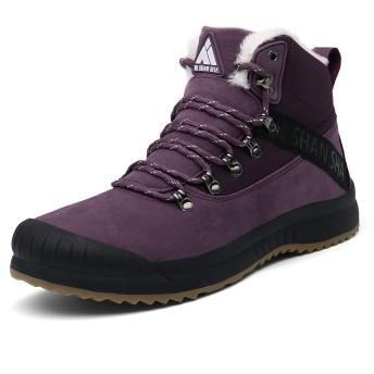[Mishansha] スノーブーツ メンズ 防寒 暖かい 裏起毛 冬用靴 カジュアル シューズ レディース 冬用雪靴 通学 通勤用