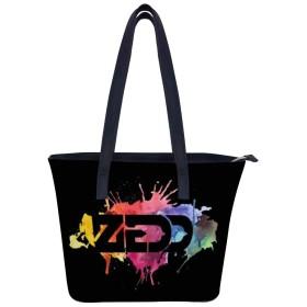 Zedd-postingbildユニークな大容量の女性のレザーワークトートショルダーバッグハンドバッグ