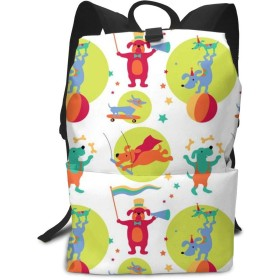 CircusDogs Spots Middle School Backpack for Teen Large Casual Durable Daypack Travel Rucksack