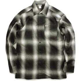 [キャルトップ] CALTOP #2000LS オンブレ チェック 長袖 フランネル シャツ ブラック/アイボリー S