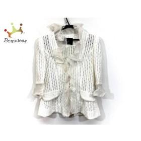 ベラ VELLA ジャケット サイズ38 M レディース 美品 白 フリル/肩パッド 新着 20190921