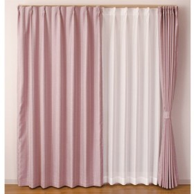 カーテン マター 約100×135cm 2枚組 ピンク カーテン 厚地カーテン 形状記憶 遮光  かわいい おしゃれ 生地 既製品 無地 可愛い 出窓
