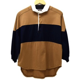 Americana ラガーシャツ モカ×ネイビー サイズ:- (恵比寿店) 190915