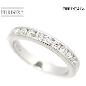 ティファニー ハーフ バンド 幅3mm 7号 ダイヤ リング Pt950 プラチナ TIFFANY&Co. 指輪