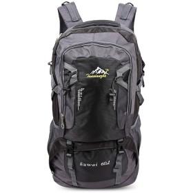 JYUNNA 防水とスクラッチに劣る大容量の多機能アウトドアバッグ (Color : Black)