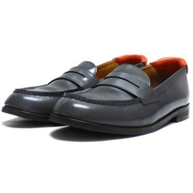 MR.GENTLE MAN ×SAKIAS  RE-loafers レザー ローファー グレー サイズ:JPN 26 (代官山店) 190915
