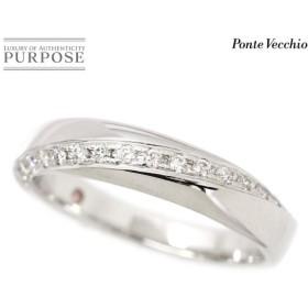 ポンテヴェキオ ダイヤ 0.14ct 10号 リング Pt900 プラチナ ダイア 指輪 Ponte Vecchio