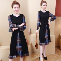 型-韓國K.W.  神秘魔法假二件式歐式風情洋裝