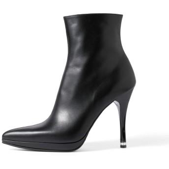[コメックス] ブーツ ショートブーツ 12cmヒール 日本製 (5671) L(24~24.5cm) ブラックスムース