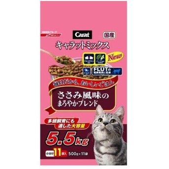 日清ペットフード  キャラットミックス ささみ風味 5.5kg ささみ風味5.5kg