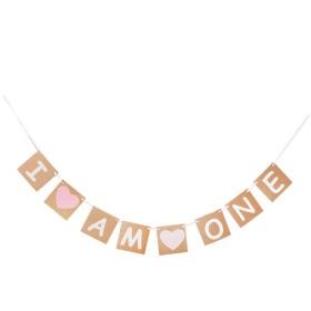 バナー 花輪の装飾 パーティーガーランド 結婚式 ブライダル 写真撮影用 - ピンク, 240cm