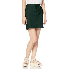 [ウィゴー] デイリー 起毛 ツイル タイト ミニ スカート XS Dグリーン