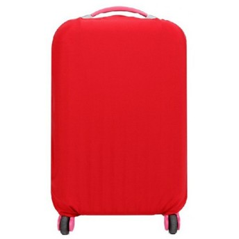 スーツケースカバー 伸縮素材 【DauStage】 キャリーケース バッグ カバー 選べる 8色 3サイズ ナイロン製リュック付き (12,レッド L(26~30インチ))
