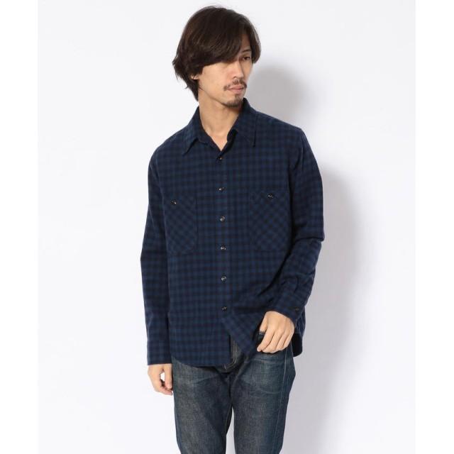 ビーバー KATO'/カトー シャギーギンガムワークシャツ メンズ BLUE L 【BEAVER】