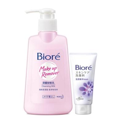 Biore 蜜妮 深層卸妝乳(180ml) 加碼送 清透極淨洗面乳15g