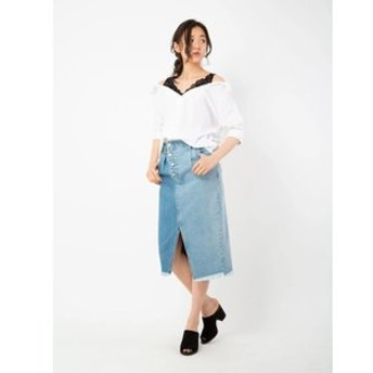 【CECIL McBEE:スカート】アシンメトリーペンシルスカート