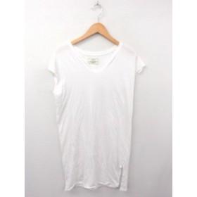 【中古】アングリッド UNGRID ワンピース Tシャツ ノースリーブ ロング丈 無地 コットン 綿 F ホワイト 白 /FT1  レディース