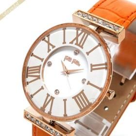 フォリフォリ Folli Follie レディース腕時計 ダイナスティ 36mm ホワイト×オレンジ WF1B029SSS OR [在庫品]