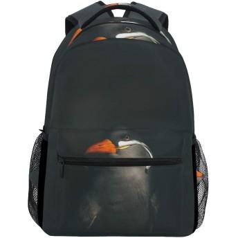 バックパック旅行ブラックバードアートスクールブックバッグショルダーラップトップデイパックカレッジバッグ用レディースメンズボーイズガールズ