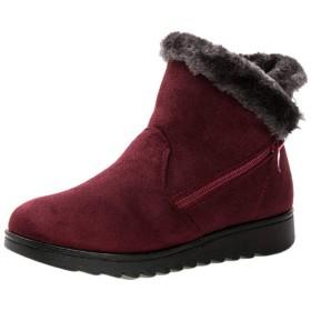 [Inlefen] の女性の 毛皮は中年のための柔らかい綿の雪のブーツを並べました