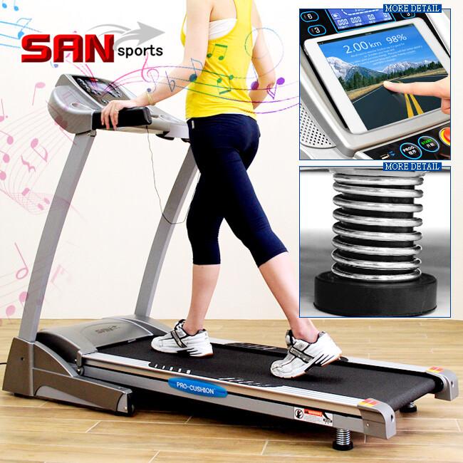 san sports自動揚升2.5hp電動跑步機 c128-845g