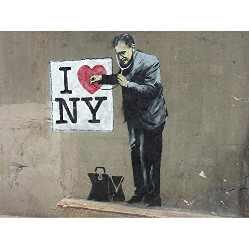 Strawberry Banksy Donuts Graffiti Street Art Giant Poster Art Print Llf0874