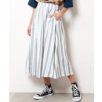 【ダブルネーム/DOUBLE NAME】 マルチストライプスカート