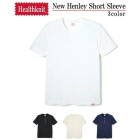 【30%OFF】Healthknit / ヘルスニット : NEW Henly Short Sleeve : ニュー ヘンリーネック ショートスリーブ Tシャツ 半袖 カットソー : HK-951