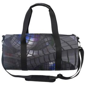 軽量 ナイロン ボストンバッグ 旅行バッグ 3Dパターン 肩掛け OK ショルダーストラップ 付 レディース
