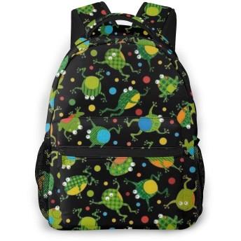 バックパック かわいい カエル Pcリュック ビジネスリュック バッグ 防水バックパック 多機能 通学 出張 旅行用デイパック