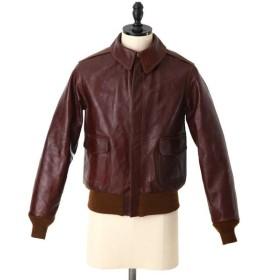 【10倍】BUZZ RICKSON'S / バズリクソンズ 東洋エンタープライズ : A-2 No.23380 ROUGH WEAR CLOTHING CO. HAND ANILINE DYED : レザー : BR80253