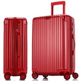 ジッパートロリーケース、純粋な贅沢なスーツケース、荷物、搭乗、軽量スーツケース-red-S
