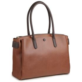 [プラグマ] PRAGMA 上品 角シボ A4サイズ トートバッグ ブリーフケース 大きめトート 機能派バッグ … (ブラウン)