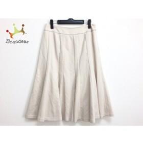リコヒロコビス +RICO HIROKOBIS スカート サイズ11 M レディース ベージュ×アイボリー×黒 新着 20190921