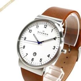 スカーゲン SKAGENメンズ腕時計 Klassik クラシック 40mm ホワイト×ブラウン SKW6082