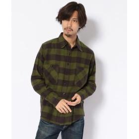 ビーバー KATO'/カトー ブロックチェックワークシャツ メンズ GREEN M 【BEAVER】