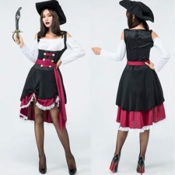 海賊 バンパイア 吸血鬼 魔女 マジックコスプレ ハロウイン コスチューム  3点セットコスプレ ハロウィン 衣装 ハロウィン レディース 大