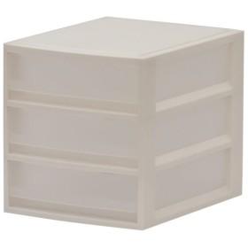 天馬  ルームケースプチA4浅型3段 ホワイト レターケース 小物収納 収納 プラスチック収納 プラ収納 プラケース