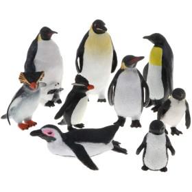 9個 動物モデル 動物模型 ペンギンモデル ペンギン模型 置物 フィギュア 道具 インテリア