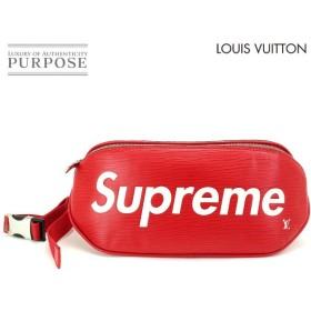 未使用 展示品 ルイ ヴィトン LOUIS VUITTON シュプリーム エピ バムバッグ ボディ バッグ レッド ホワイト M53418 コラボ 限定