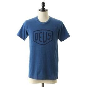 【30%OFF】Deus ex Machina / デウス エクス マキナ : SHIELD INDIGO TEE : シールド インディゴ Tシャツ 半袖カットソー ロゴ : DMS71892A