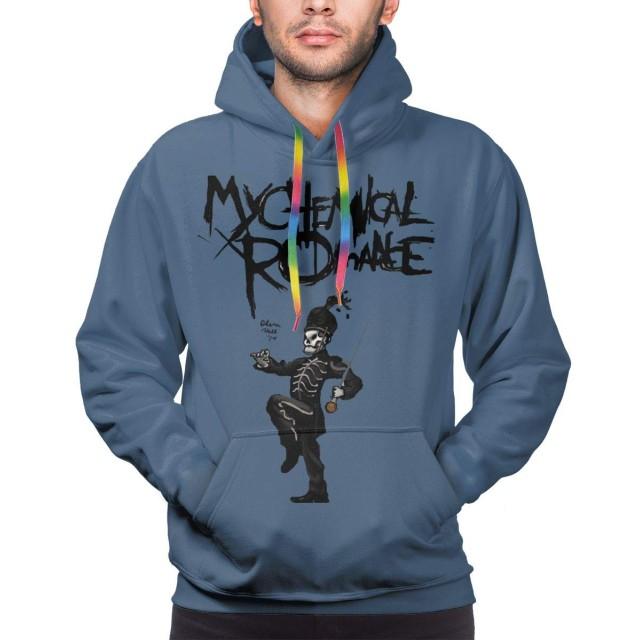 マイケミカルロマンス My Chemical Romance The Black Parade メンズ パーカー スウェットパーカー 長袖 プルオーバー トレーニング フィード付き プリント シンプル カジュアル おしゃれ 大人 男性