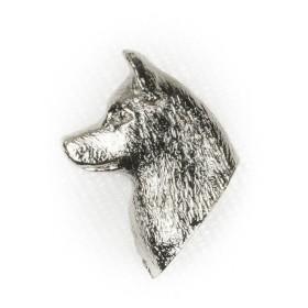 シベリアンハスキー イギリス製 アート ドッグ ピンバッジ コレクション