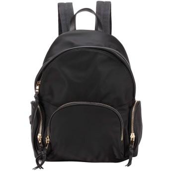 ELBORN PYO バックパックレディース 多ポケットを丈夫軽量パラシュートリュックサック 防水シンプルと便利リュック 通勤通学旅行バックパック (ブラック)