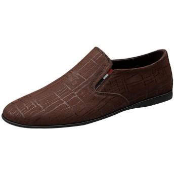 [レンシー] ローファー メンズ 本革 モカシン ドライビングシューズ 軽量 通気 カジュアルスリッポン 紳士靴 ビジネスシューズ 革靴 通勤 brown38